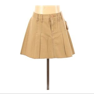 Roxy Islander Tan Pleated Skirt